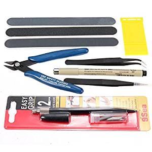 Imagen que muestra un kit de herramientas de modelismo