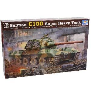 Caja de la maqueta del Tanque alemán E 100 a Escala 1:35