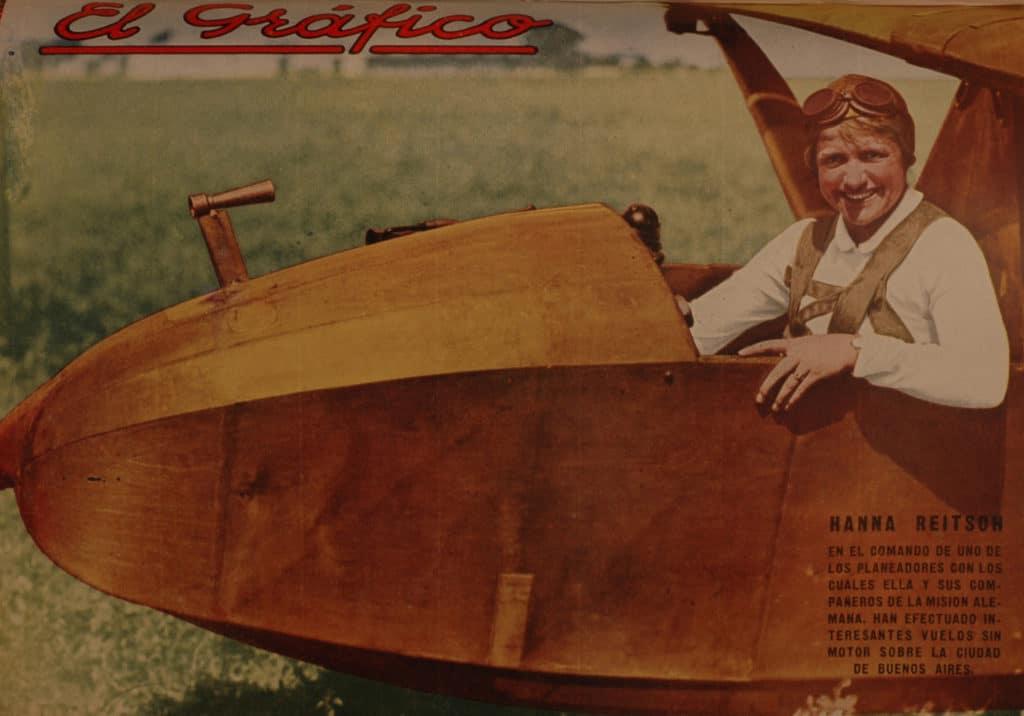 Hanna Reitsch en un planeador