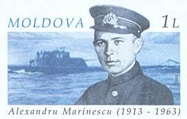 Imagen de un sello conmemorativo de Marinesko en Moldavia