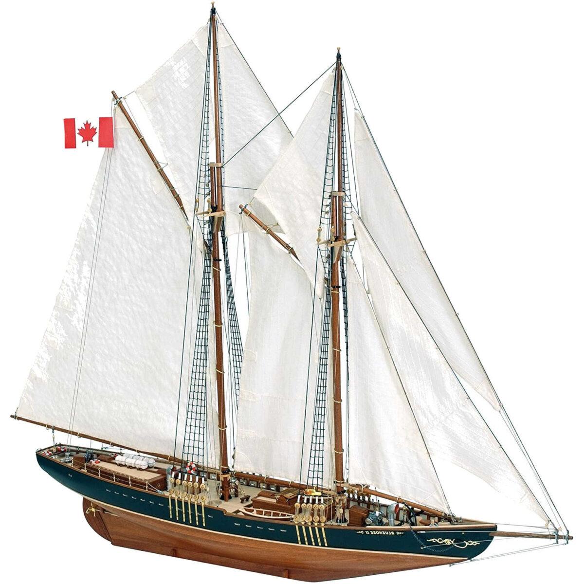 maqueta de madera artesanía latina goleta de pesca canadiense bluenose II