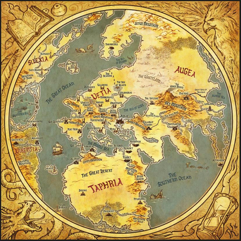 mapa imaginario de the 9th age