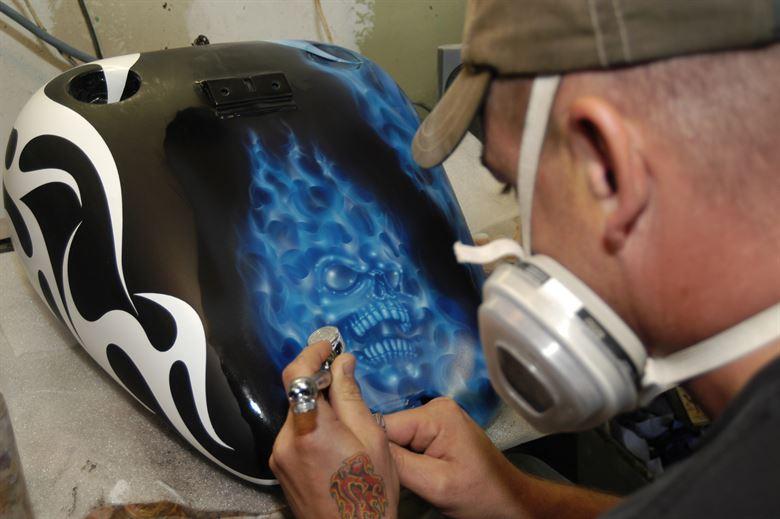 como pintar con aerógrafo con pintura acrílica
