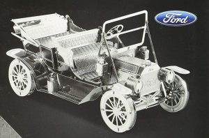 maqueta ford t 1908 de metal earth